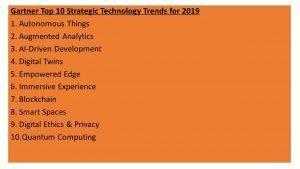 Gartner: Top 10 Strategic Technology Trends For 2019