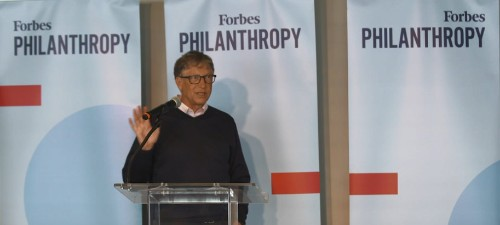 Bill Gates Honors Paul Allen, Recipient Of The 2019 Forbes 400 Lifetime Achievement Award For Philanthropy, At Eighth Annual Forbes 400 Summit On Philanthropy