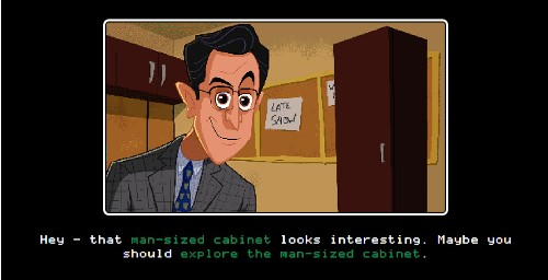 Stephen Colbert Just Released A Game Called 'Escape From The Man-Sized Cabinet'