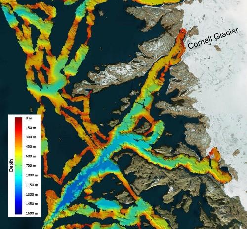 Greenland Glaciers In Deep Water