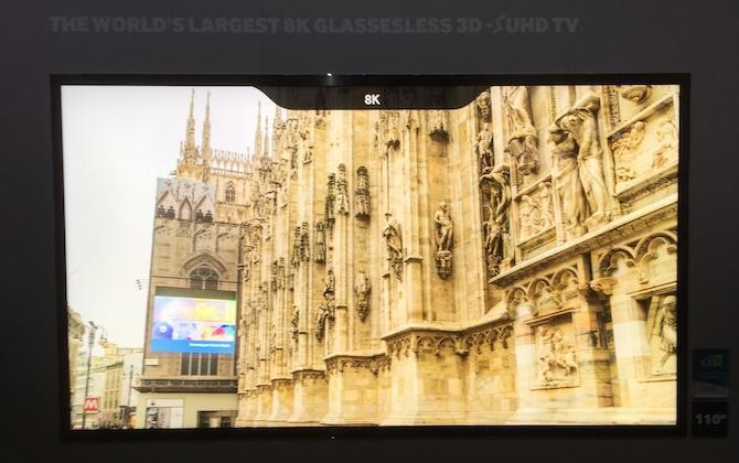 Hands On With Samsung's 110-inch 8K Glasses-Free 3D TV (My Head Hurts)