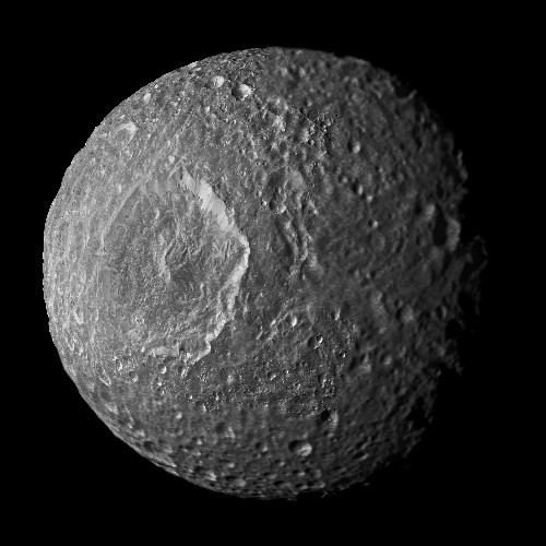 "Is Saturn's ""Death Star"" Moon A Hidden Water World?"
