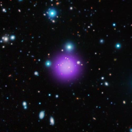 Record-Breaking Galaxy Cluster Confirms Dark Matter Universe