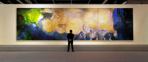 Asia's Best-Selling Artist, Zao Wou-ki, Defies Gravity By Blending East And West