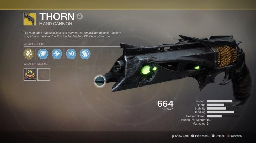 Here's How To Get Thorn In 'Destiny 2,' The Resurrected Exotic Hand Cannon