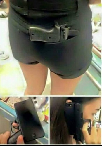 Gun-Shaped Mobile Phone Cases Should Be Avoided, Says Law Officials