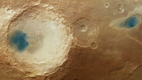 What's With These Blue Patches Seen On Mars?