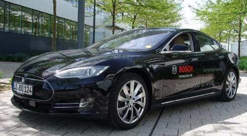 Forget Auto Pilot: Bosch Builds Twin Self-Driving Teslas