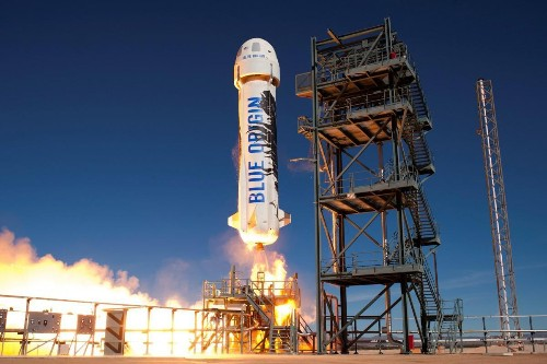 Jeff Bezos' Space Company Blue Origin Launched And Landed Their Previously Used Rocket