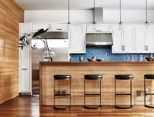 15 Gorgeous Kitchens with Mixed Woods