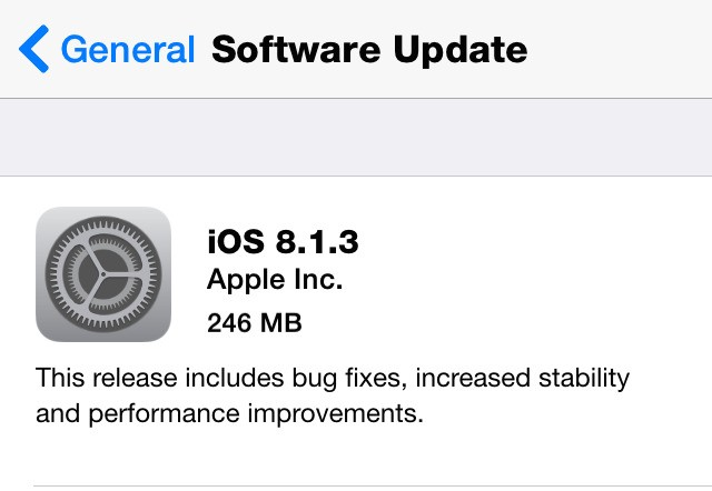 Apple iOS 8.1.3 Release Will Again Anger Users