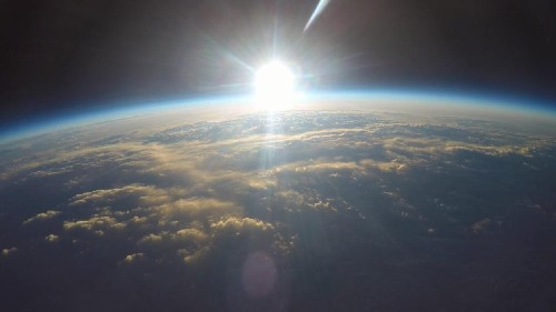 A Sunrise Viewed From The Edge Of Space