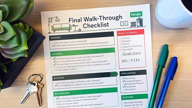 The Final Walk-Through Checklist
