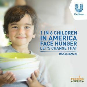 Unilever Launches #ShareAMeal Program To Support Feeding America