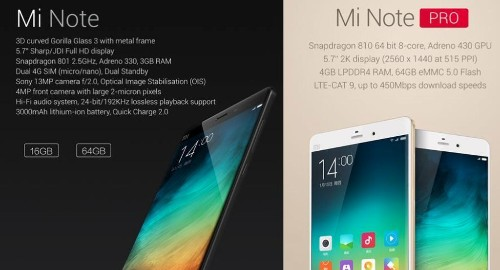 Xiaomi's iPhone Killer Is The New Cutting Edge Mi Note Phablet