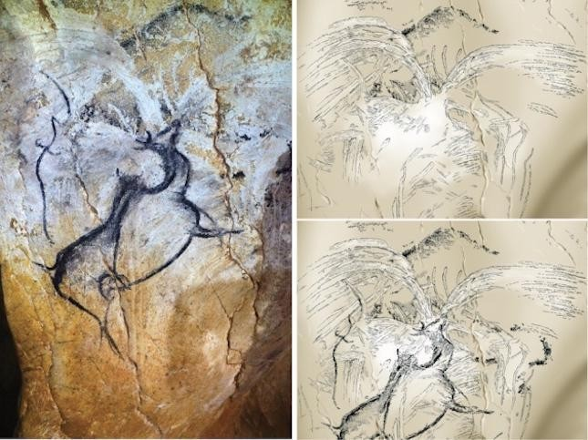 35,000 Year Old Cave Painting Of Ancient Volcanic Eruption