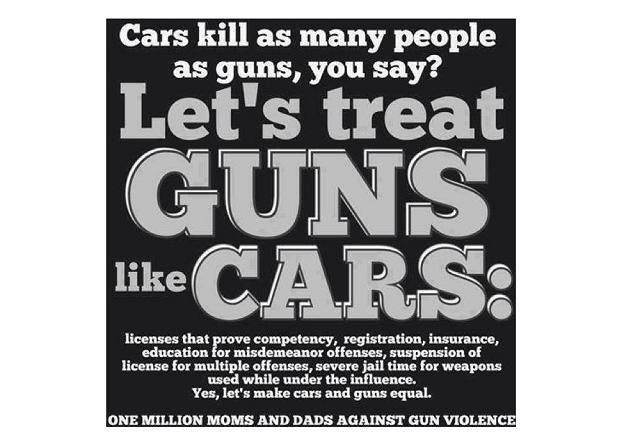 Should Guns Be Regulated Like Cars?