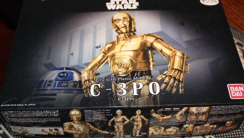 Toy Review: Bandai 1/12 Scale C-3PO Kit Adds Challenge To Star Wars Figures