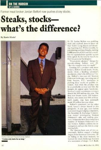 Meet The Real 'Wolf Of Wall Street' In Forbes' Original Takedown Of Jordan Belfort