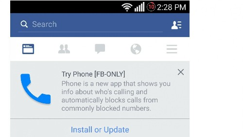 Carriers Beware: Facebook Is Testing A New App Called 'Phone'