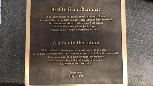 Iceland Mourns 'Dying' Glacier With Memorial And 'Letter To The Future'