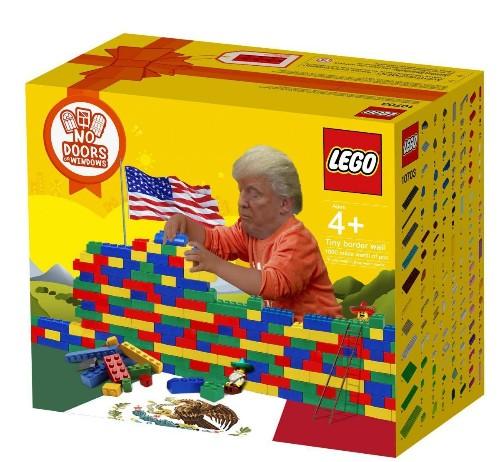 Donald Trump's Border Wall Inspires Lego Fan To Create Funny Design