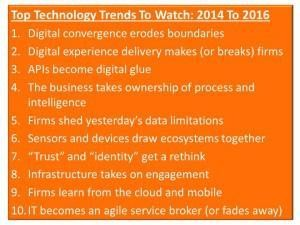 Forrester: Top Technology Trends for 2014 And Beyond