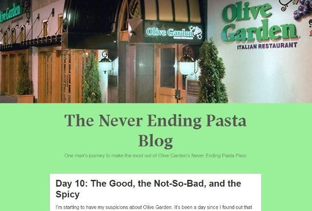 Recent Grad Buys Olive Garden Endless Pasta Pass To Learn About Finance, Poverty
