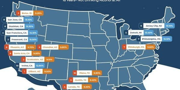 This Study Pinpoints The Cities Where Non-Drinkers Live. Now What?