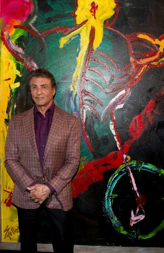 Sylvester Stallone, the Artist, Launches 'Real Love' Exhibit in France