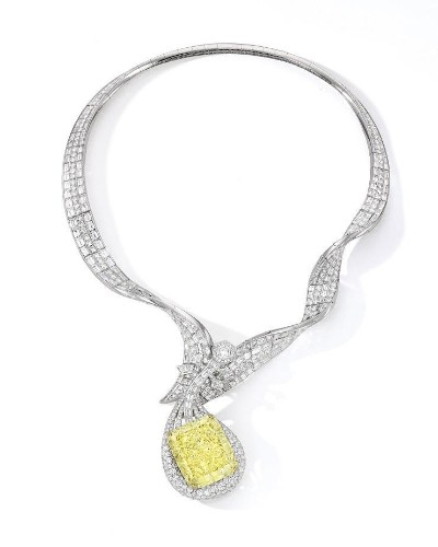 Anna Hu's 100-Carat Yellow Diamond Necklace Could Fetch $6.2 Million At Sotheby's Hong Kong