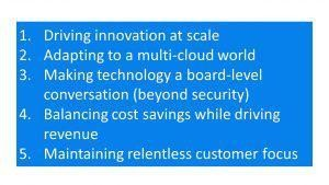 CIOs' Top Trends Include Innovation At Scale, Driving Revenue, Customer Centricity