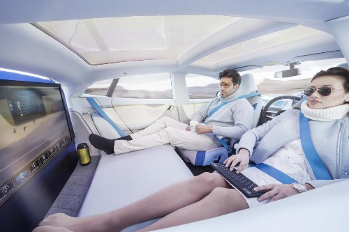 Self-Driving Cars Can Be Relaxing, As The Rinspeed XchangE Concept Shows