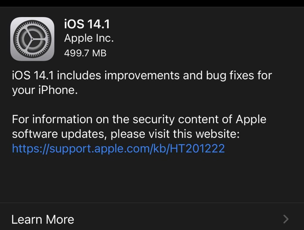 Apple Releases iOS 14.1 With Big HomePod Upgrades & Other Fixes