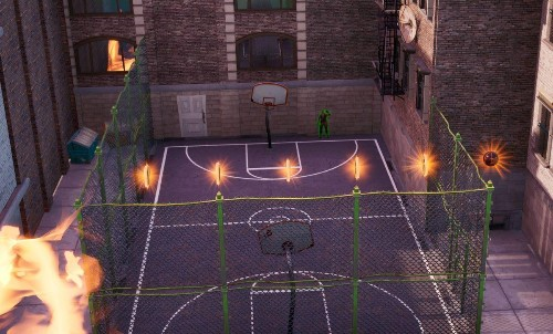 'Fortnite' Downtown Drop Challenge: Where To Find Jonesy Near The Basketball Court