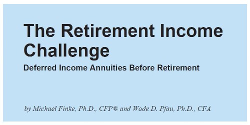 Pre-Pay for Retirement with Deferred Income Annuities