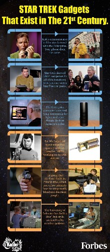 Star Trek Gadgets That Exist In The 21st Century [Infographic]