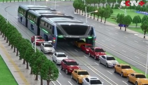 Is China's Revolutionary Road-Straddling Bus An Elaborate Hoax?