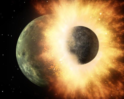 Earth's Crust May Be The Result Of An Earth-Shattering Impact With Early Protoplanet
