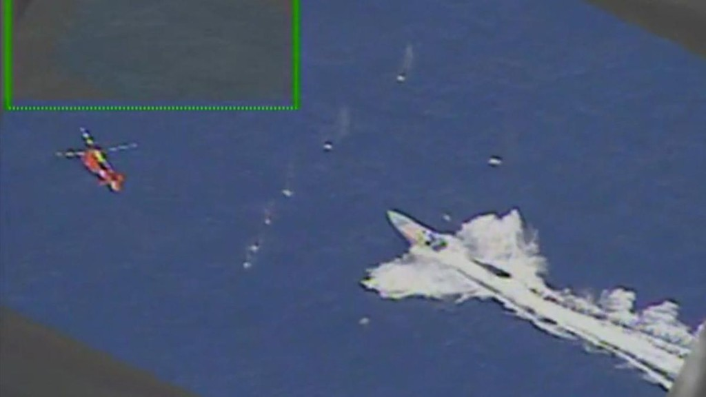 U.S. Coast Guard Helicopter Fires Warning Shots To Stop Narco Boat