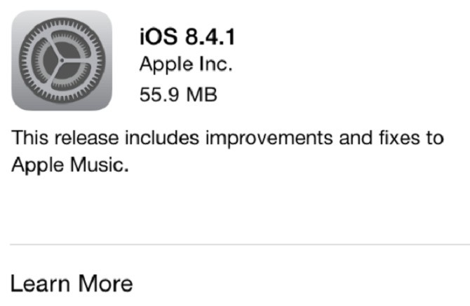 Apple iOS 8.4.1 Arrives With Several Apple Music Fixes
