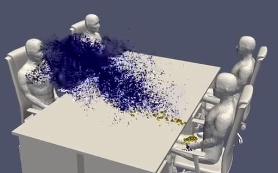 Viral Video: Japanese Supercomputer Shows How Coronavirus Spreads In A Dining Setting