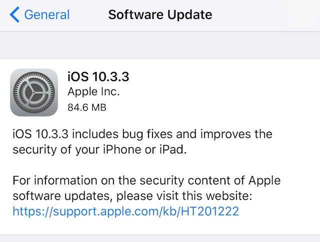 Apple iOS 10.3.3 Is Now Available: What Is Included In This Update?