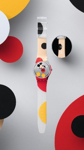 Swatch Celebrates Mickey Mouse's 90th Birthday With Two Damien Hirst-Designed Limited Editions
