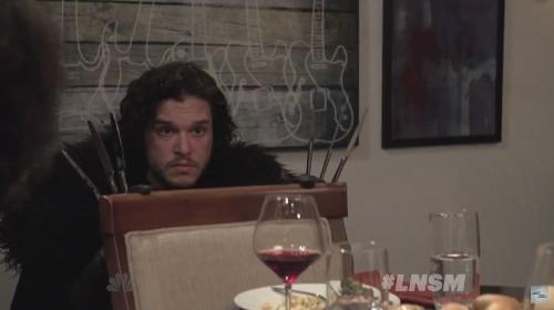 Watch 'Game Of Thrones' Jon Snow Crash Seth Myers' Dinner Party