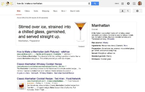 Google Now Teaches You How To Bartend