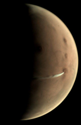 Why Does Mars Appear To Have Smoke Plumes In Its Atmosphere?