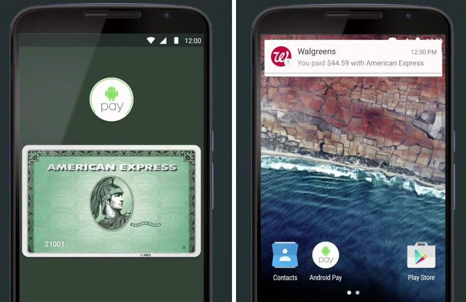 Android Pay app and Android Pay receipt - Image credit Google