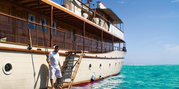 A Vintage Yacht for Africa's Thanda Island