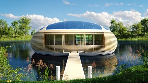 Behold 'The WaterNest': An Eco-Conscious, High-Tech Luxury Home That Floats